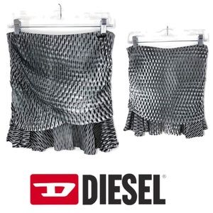 NWT Diesel OSUPY Snake Print Chiffon Layered Skirt